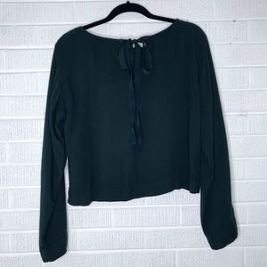 Anthropologie Cloth & Stone Green Wide Sleeve Top
